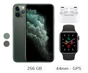 iPhone 11 Pro + Apple Watch S5 + Airpods Pro