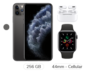 iPhone 11 Pro Max + Apple Watch S5 + Airpods Pro